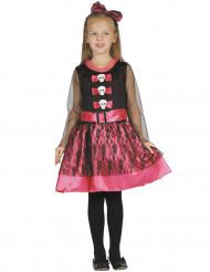 Costume da principessa scheletro per bambina halloween