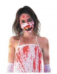 Maschera bocca da zombie insanguinata halloween