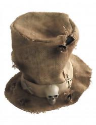 Image of Cappello a cilindro con sacco di iuta adulto halloween