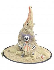 Cappello da strega in tela di juta
