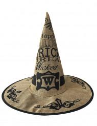 Cappello da strega in juta