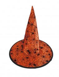 Cappello da strega con ragnatela arancione bambino halloween