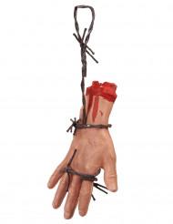 Mano sanguinante con filo spinato Halloween
