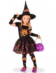 Costume strega zucca bambina