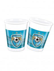 8 bicchieri in plastica 20 cl Calcio