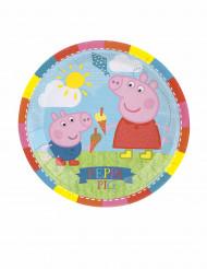 8 Piatti Piccoli in cartone Peppa Pig™