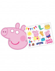 6 Maschere e adesivi Peppa Pig™