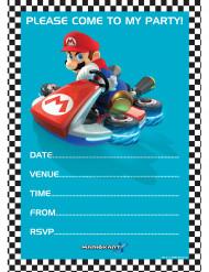 20 Cartoline invito e busta da lettera Super Mario™