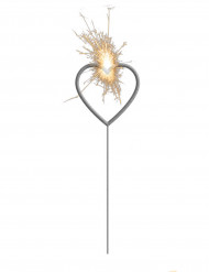 Stella filante luminosa con cuore