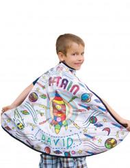 Mantello con razzo personalizzabile per bambino