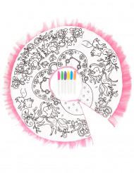 Tutù lavabile multicolore da bambina