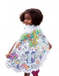 Mantello reversibile blu e da colorare Principessa bambina