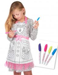 Grembiule da colorare miss cupcake per bambina