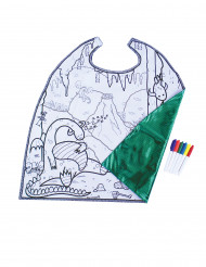 Mantello reversibile da colorare drago Bambino