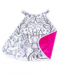 Mantello rosa da colorare castello delle principesse Bambina