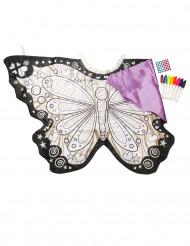 Ali da Farfalla da colorare lavabili bambina