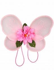 Ali rosa da principessa delle fiabe per bambina