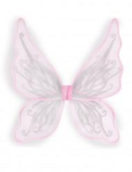 Ali da farfalla rosa con brillantini per bambina