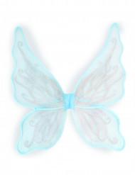 ALi da farfalla blu e argentate per bambina