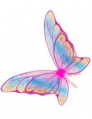 Ali da farfalla rosa con paillettes bambina!