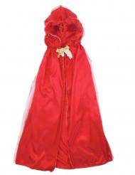 Mantello rosso deluxe per bambina