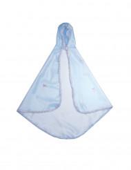 Mantello lusso azzurro per bambina