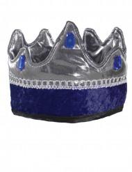 Corona da re cavaliere blu bambino