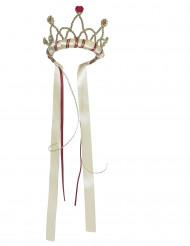 Corona regina medievale beige bambina