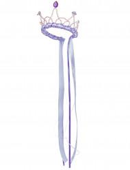 Corona regina medievale lilla per bambina