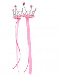 Corona Regina medievale rosa bambina