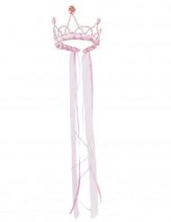 Corona Regina medievale bianca e rosa bambina