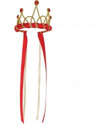 Corona Regina medievale rossa bambina