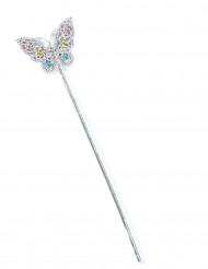 Bacchetta fata farfalla multicolore bambina