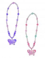 Collana con farfalla rosa ragazza