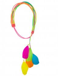 Fascia per capelli con pennacchi multicolore