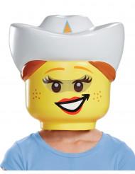 Maschera Cowgirl Lego™ per bambina