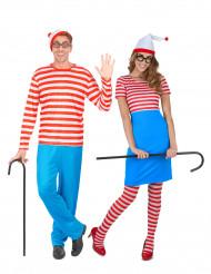 Costume coppia di turisti a righe
