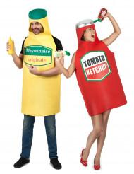 Costume di coppia Maionese e ketchup adulti