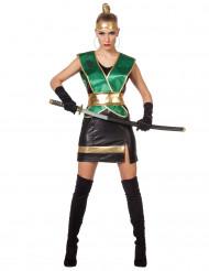 Costume da ninja verde per donna