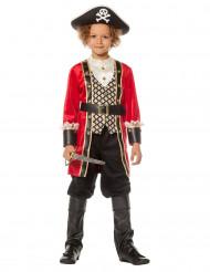 Costume capitano dei pirati deluxe per bambino