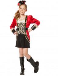 Costume capitano dei pirati deluxe per bambina