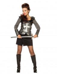 Costume da cavaliere in armatura per donna