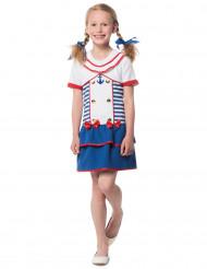 Costume da marinaia a righe per bambina
