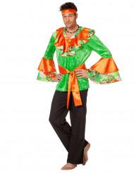 Costume da ballerina di rumba arancione e verde