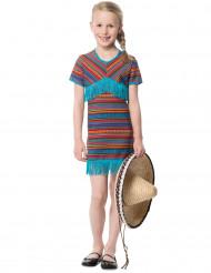 Costume messicano azzurro da bambina