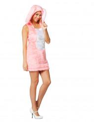 Costume da coniglietta rosa con cappuccio
