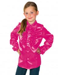 Camicia rosa plissettata per bambino