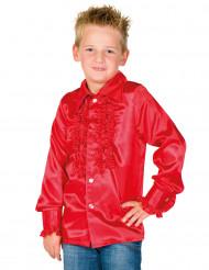 Camicia rossa plissettata per bambino