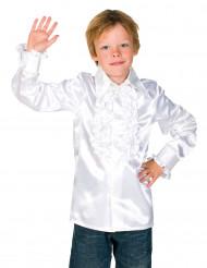 Camicia bianca plissettata per bambino