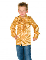 Camicia disco dorata con volant per bambino